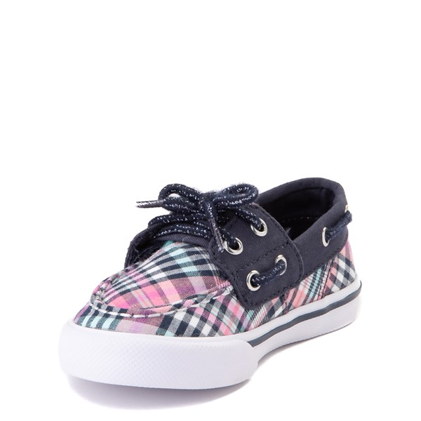 alternate view Sperry Top-Sider Bahama Boat Shoe - Toddler / Little Kid - Navy / PinkALT3