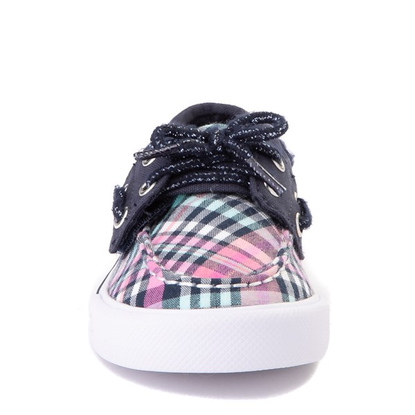 alternate view Sperry Top-Sider Bahama Boat Shoe - Toddler / Little Kid - Navy / PinkALT4