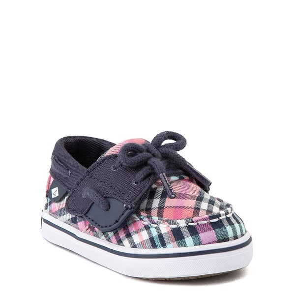 alternate view Sperry Top-Sider Bluefish Boat Shoe - Baby - Navy / PinkALT1