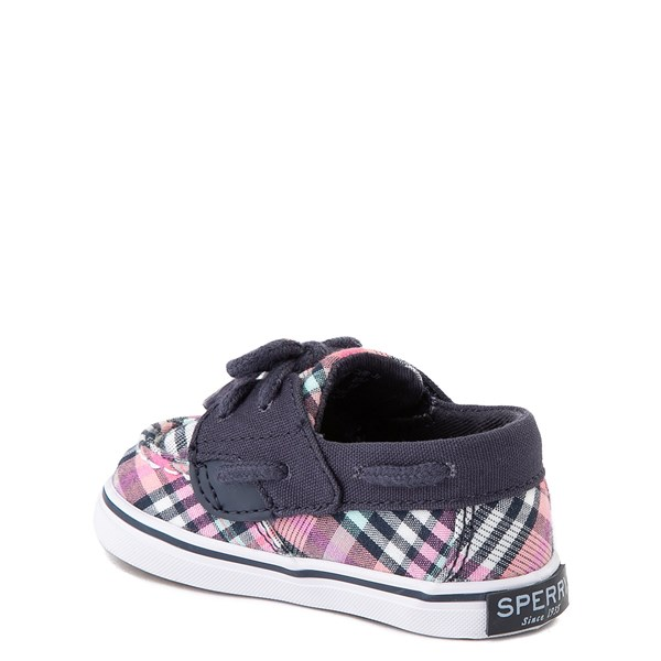 alternate view Sperry Top-Sider Bluefish Boat Shoe - Baby - Navy / PinkALT2