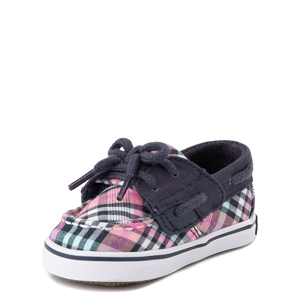 alternate view Sperry Top-Sider Bluefish Boat Shoe - Baby - Navy / PinkALT3