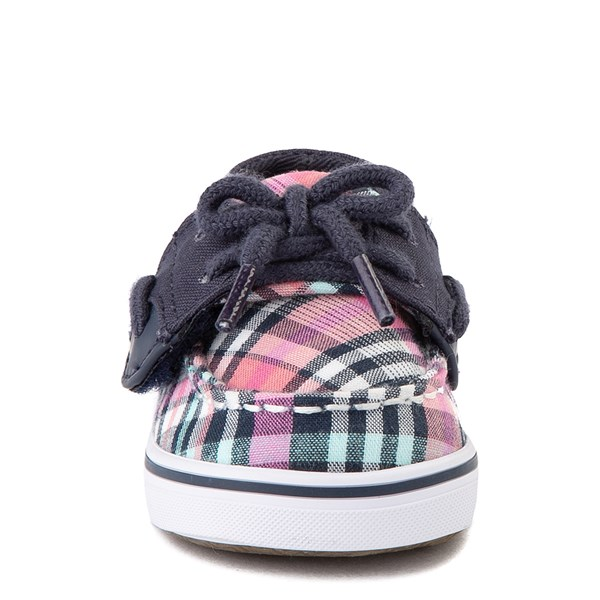 alternate view Sperry Top-Sider Bluefish Boat Shoe - Baby - Navy / PinkALT4