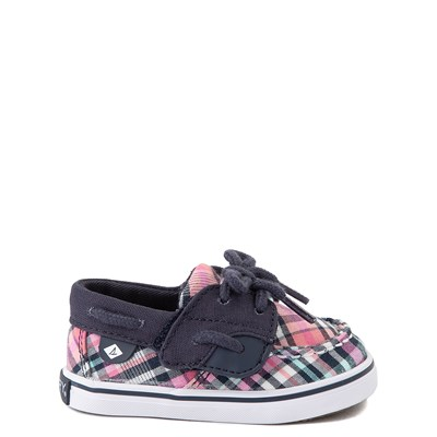 Main view of Sperry Top-Sider Bluefish Boat Shoe - Baby - Navy / Pink