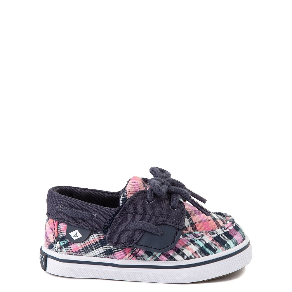 Sperry Top-Sider Bluefish Boat Shoe - Baby - Navy / Pink