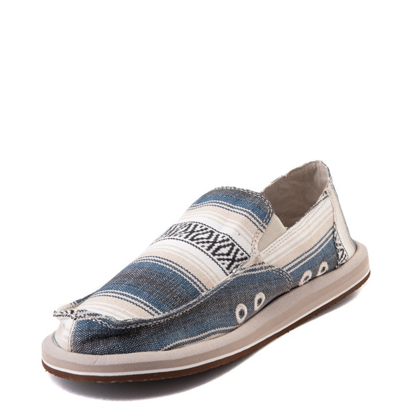 alternate view Mens Sanuk Donny Funk Slip On Casual Shoe - Navy Baja BlanketALT3