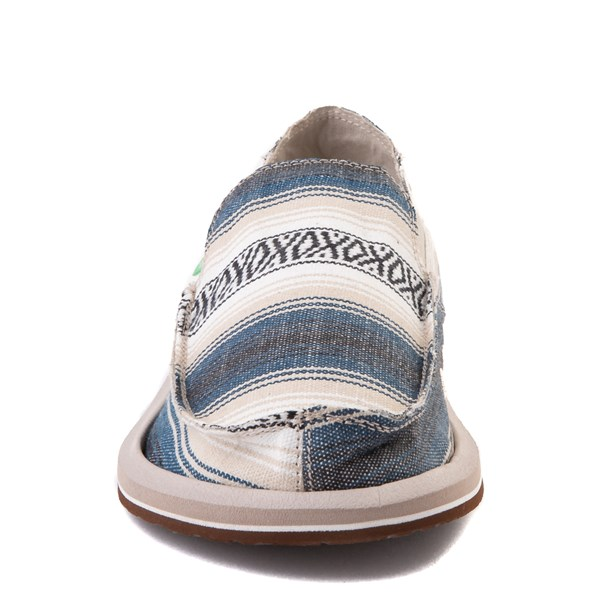 alternate view Mens Sanuk Donny Funk Slip On Casual Shoe - Navy Baja BlanketALT4