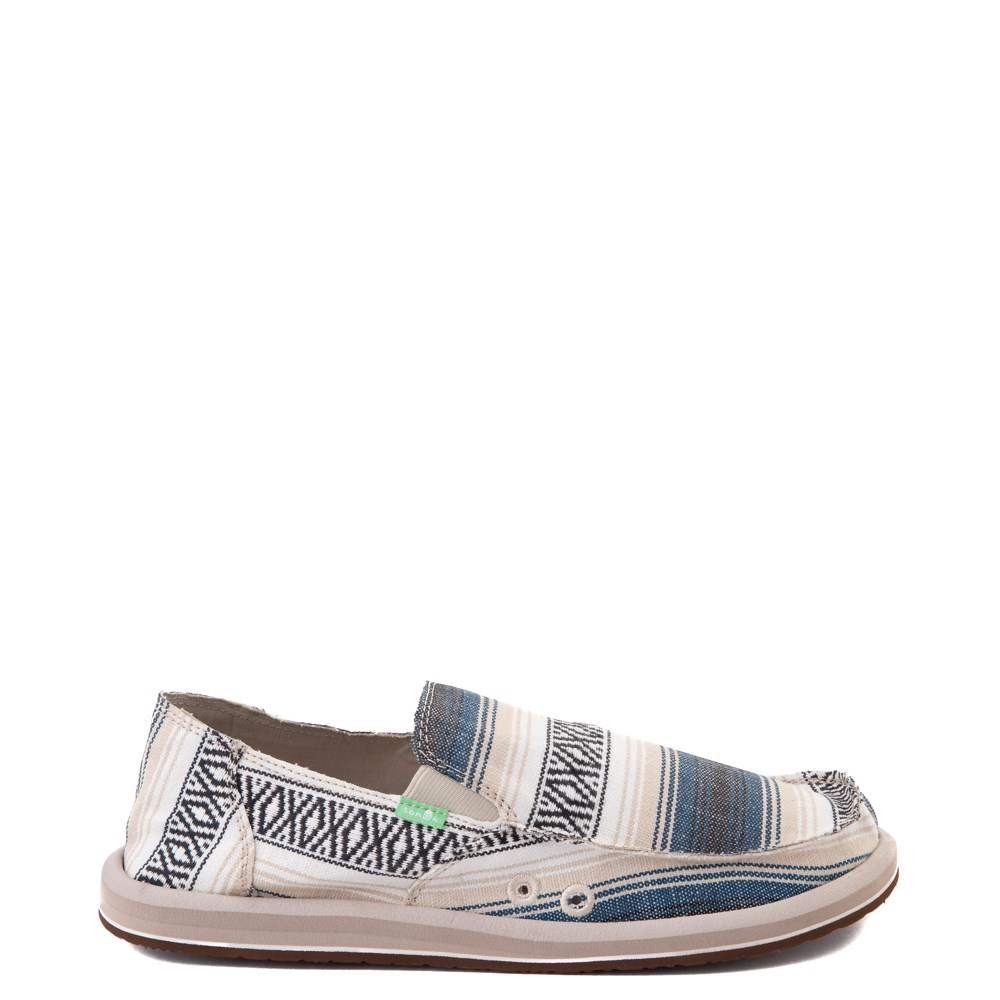 Mens Sanuk Donny Funk Slip On Casual Shoe - Navy Baja Blanket