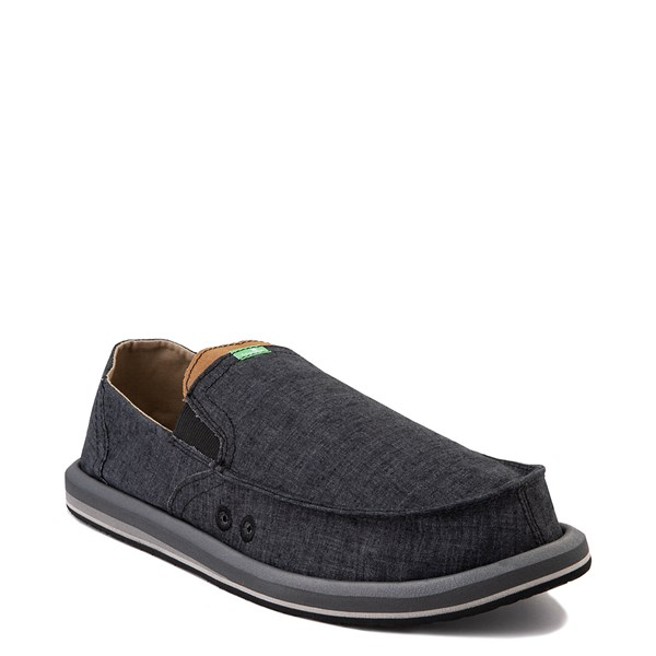 alternate view Mens Sanuk Pick Pocket Slip On Casual Shoe - BlackALT1