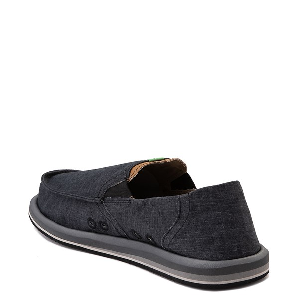 alternate view Mens Sanuk Pick Pocket Slip On Casual Shoe - BlackALT2