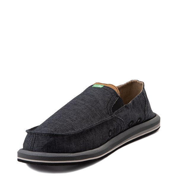 alternate view Mens Sanuk Pick Pocket Slip On Casual Shoe - BlackALT3