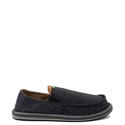 Main view of Mens Sanuk Pick Pocket Slip On Casual Shoe - Black