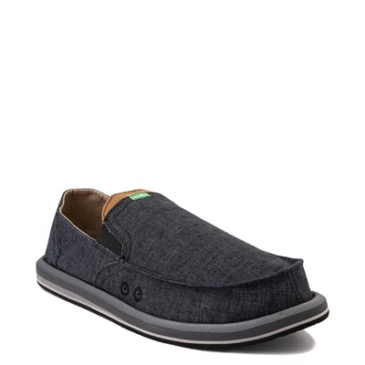 Alternate view of Mens Sanuk Pick Pocket Slip On Casual Shoe - Black