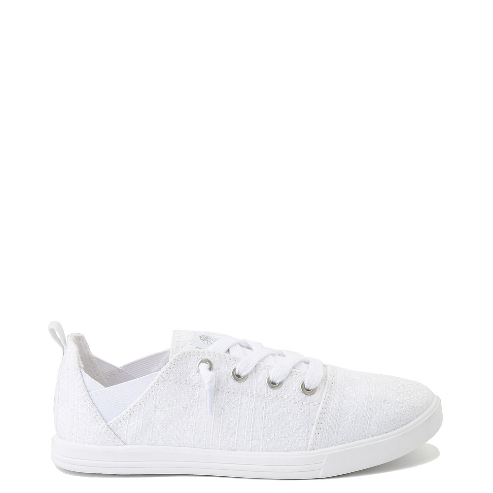 Womens Roxy Libbie Slip On Casual Shoe - White