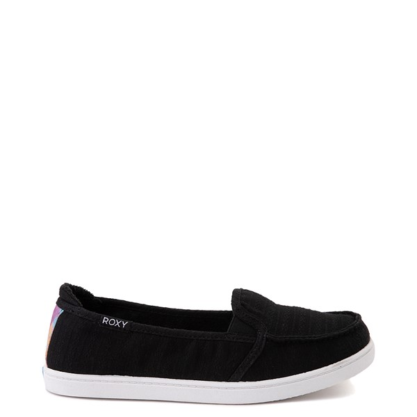 Womens Roxy Minnow Slip On Casual Shoe - Black / Multi
