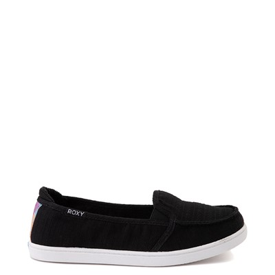 Main view of Womens Roxy Minnow Slip On Casual Shoe - Black / Multi