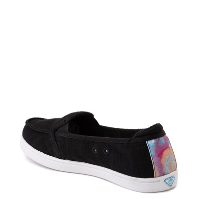 Alternate view of Womens Roxy Minnow Slip On Casual Shoe - Black / Multi