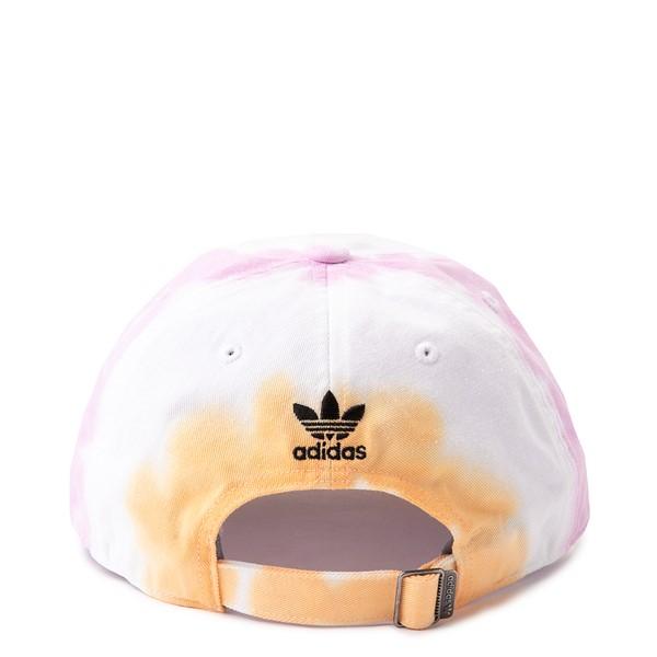 alternate view adidas Relaxed Colorwash Dad Hat - White / Washed OrangeALT1