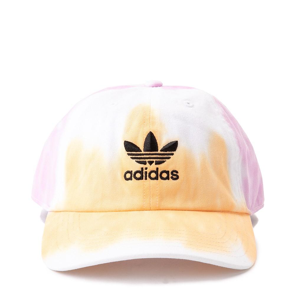 adidas Relaxed Colorwash Dad Hat - White / Washed Orange