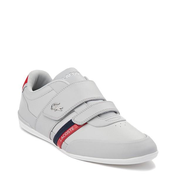alternate view Mens Lacoste Misano Athletic Shoe - Light GrayALT5