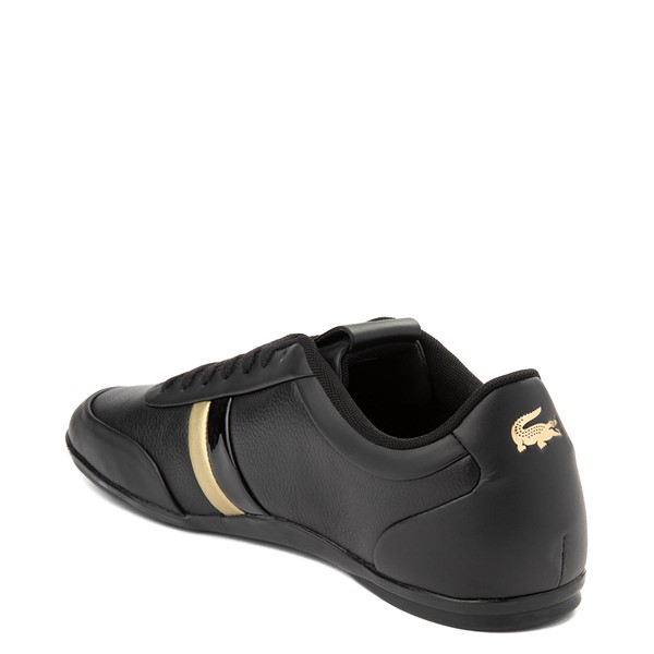 alternate view Mens Lacoste Storda Athletic Shoe - Black / GoldALT1