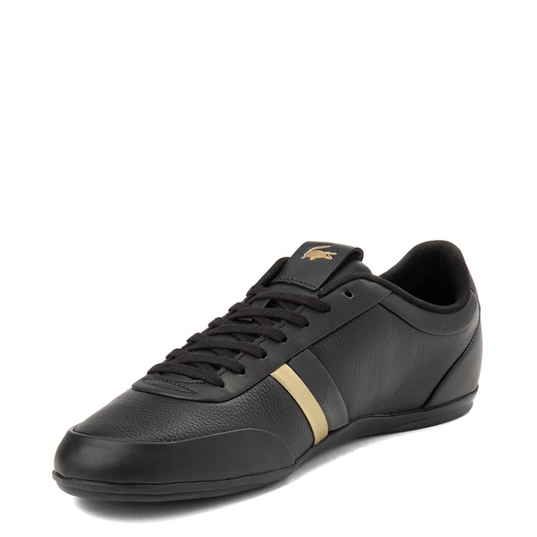 alternate view Mens Lacoste Storda Athletic Shoe - Black / GoldALT2