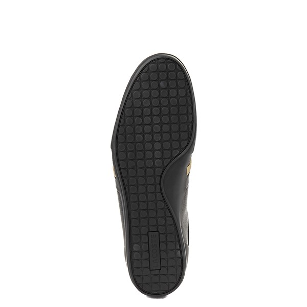 alternate view Mens Lacoste Storda Athletic Shoe - Black / GoldALT3