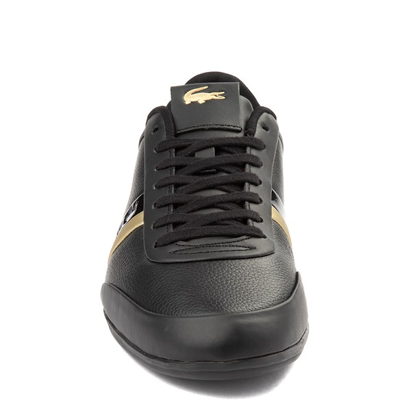 alternate view Mens Lacoste Storda Athletic Shoe - Black / GoldALT4