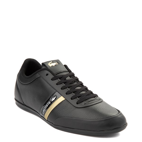 alternate view Mens Lacoste Storda Athletic Shoe - Black / GoldALT5