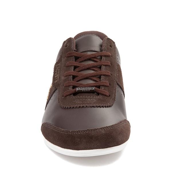 alternate view Mens Lacoste Oreno Athletic Shoe - BrownALT4