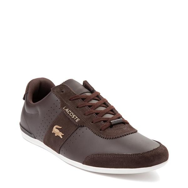alternate view Mens Lacoste Oreno Athletic Shoe - BrownALT5