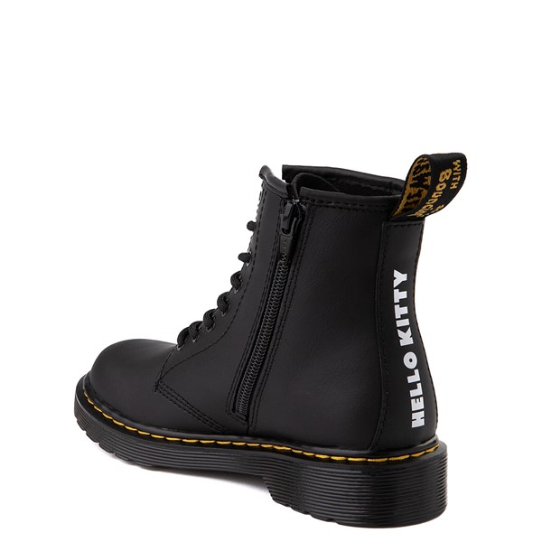 alternate view Dr. Martens x Hello Kitty® 1460 8-Eye Boot - Little Kid / Big Kid - BlackALT2