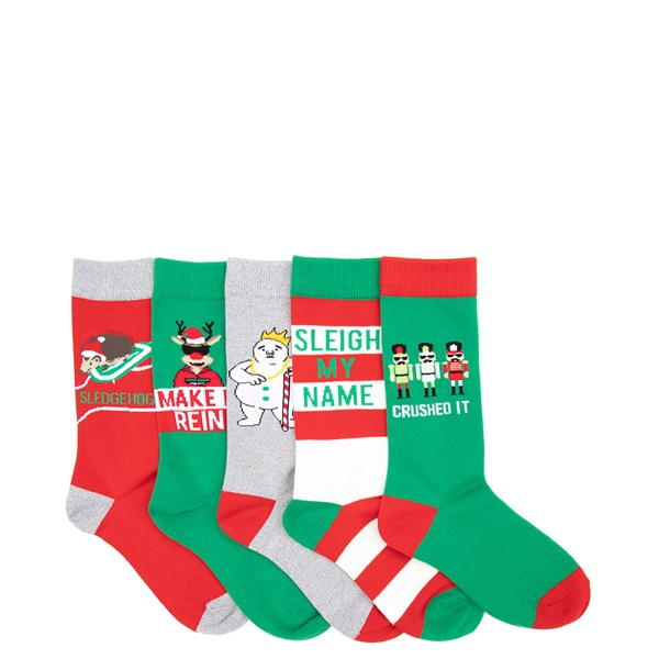 Womens Holiday Crew Socks 5 Pack