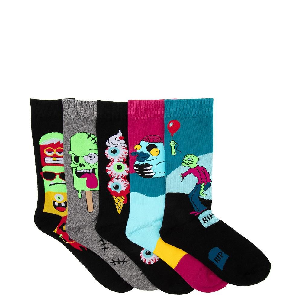 Mens Monster Crew Socks 5 Pack