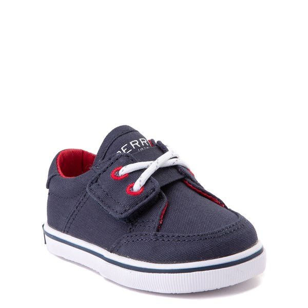 alternate view Sperry Top-Sider Trysail Casual Shoe - Baby - Navy / RedALT1