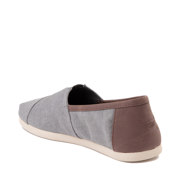 alternate view Mens TOMS Classic Slip On Casual Shoe - GrayALT1