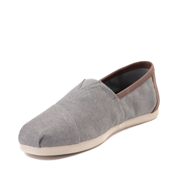 alternate view Mens TOMS Classic Slip On Casual Shoe - GrayALT2