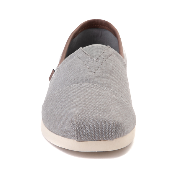 alternate view Mens TOMS Classic Slip On Casual Shoe - GrayALT4