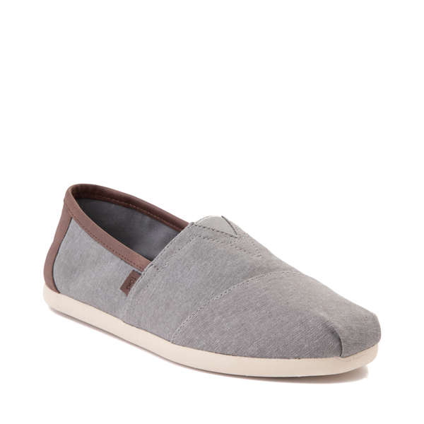 alternate view Mens TOMS Classic Slip On Casual Shoe - GrayALT5