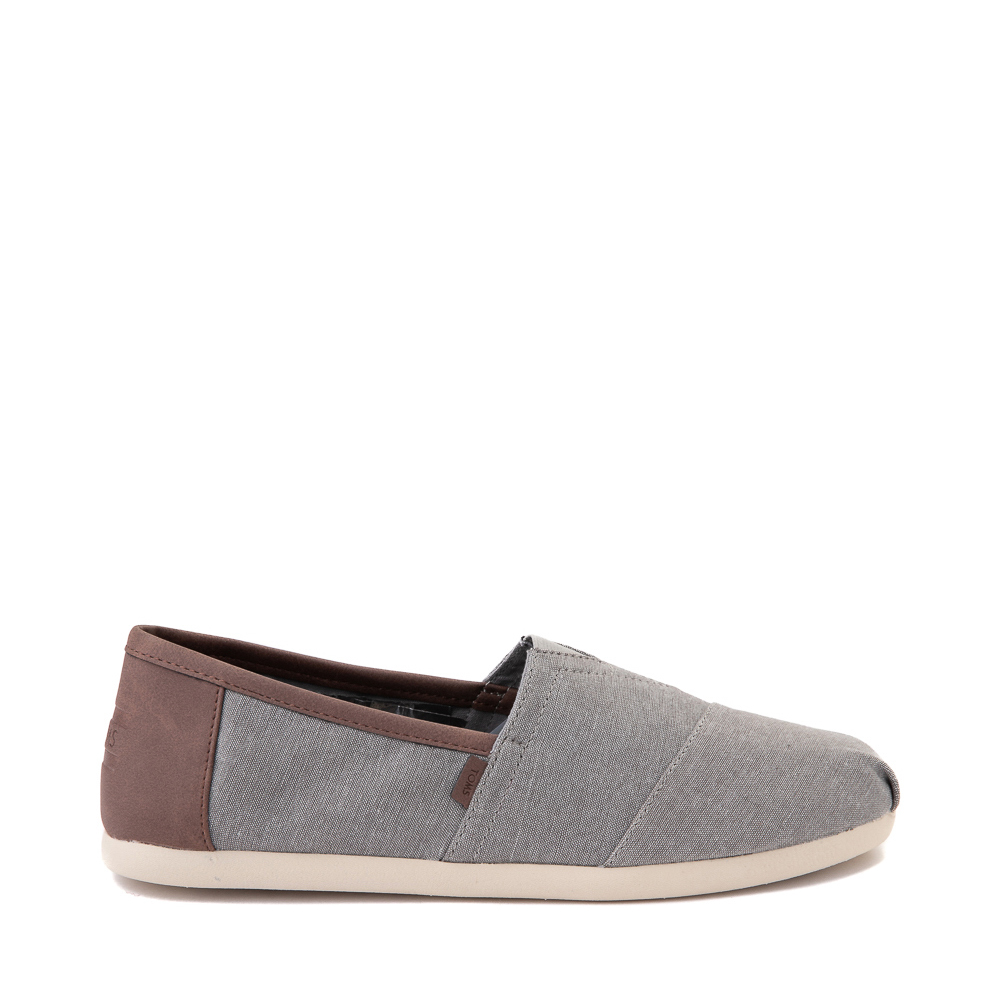 Mens TOMS Classic Slip On Casual Shoe - Gray