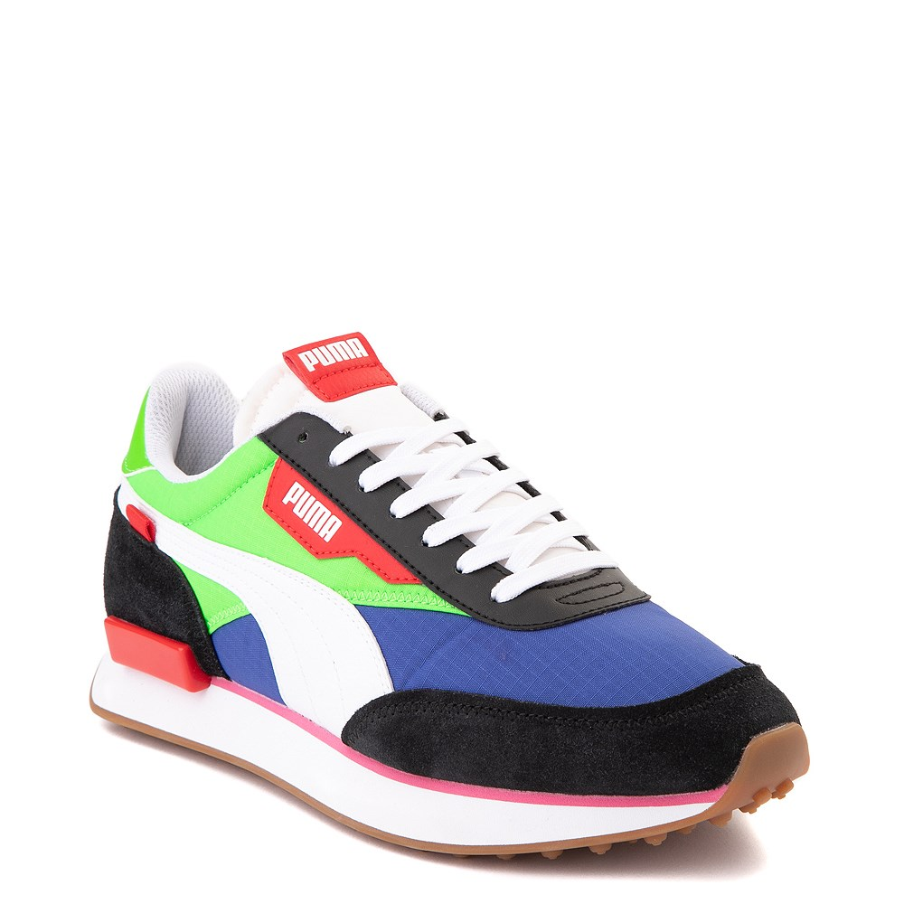 Mens Puma Future Rider Play On Athletic Shoe Black Blue Green Red