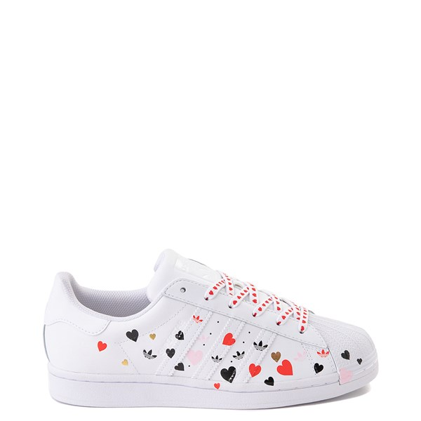 Main view of Womens adidas Superstar Athletic Shoe - White / Multi