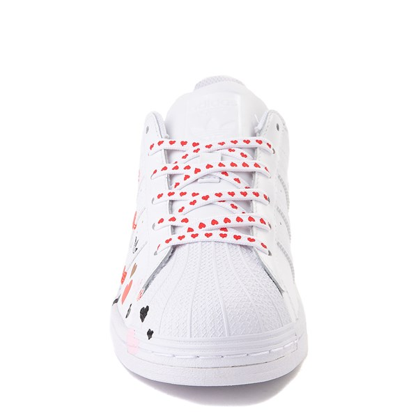 alternate view Womens adidas Superstar Athletic Shoe - White / MultiALT4