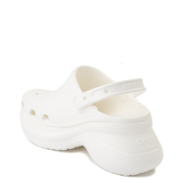 alternate view Womens Crocs Classic Bae Platform Clog - WhiteALT1