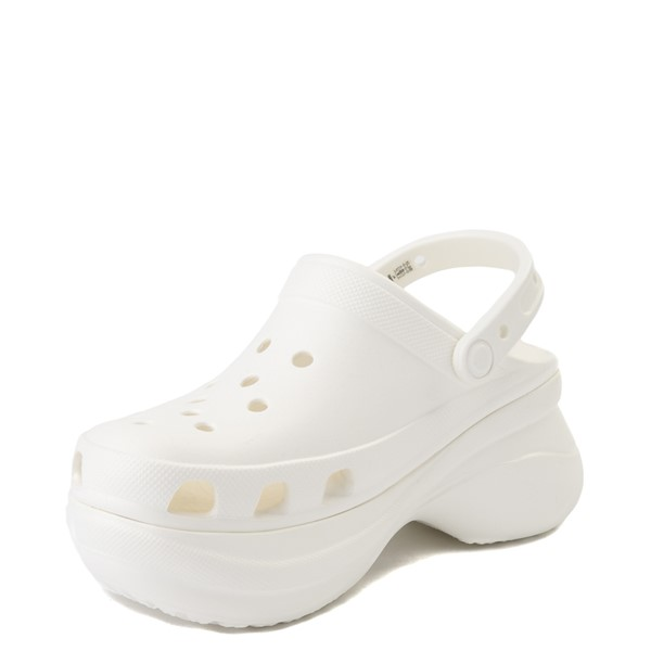 alternate view Womens Crocs Classic Bae Platform Clog - WhiteALT2