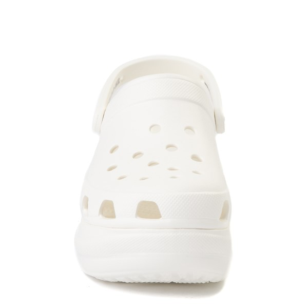 alternate view Womens Crocs Classic Bae Platform Clog - WhiteALT4