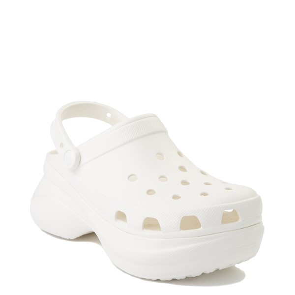alternate view Womens Crocs Classic Bae Platform Clog - WhiteALT5