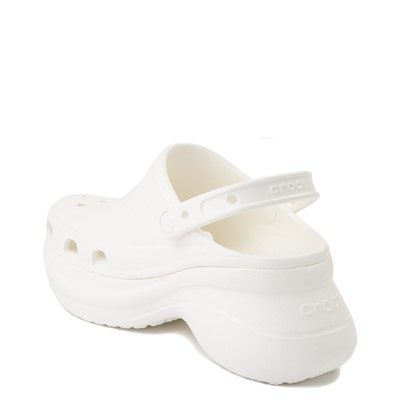 Alternate view of Womens Crocs Classic Bae Platform Clog - White