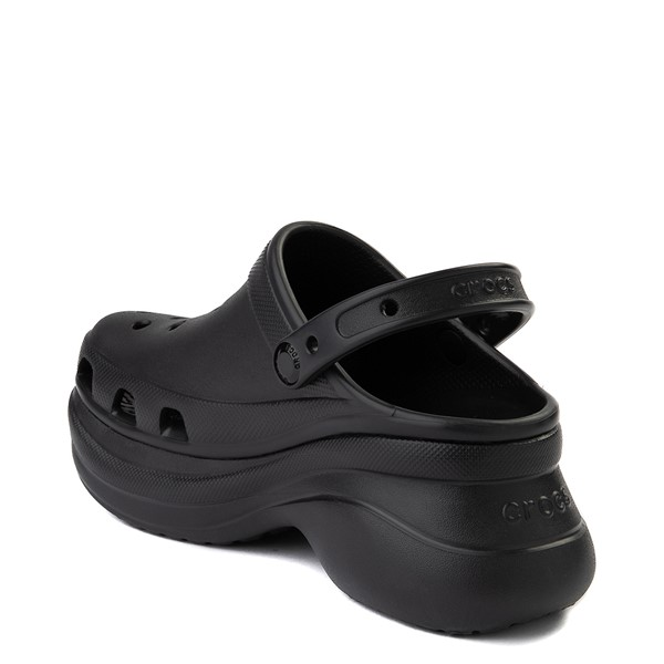 alternate view Womens Crocs Classic Bae Platform Clog - BlackALT1