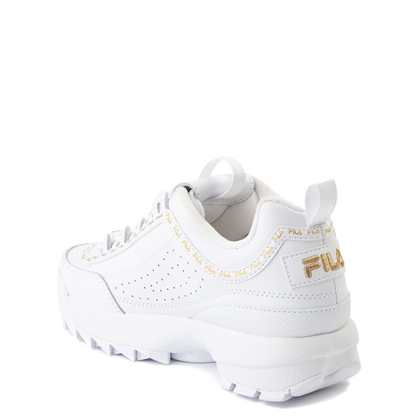 alternate view Fila Disruptor 2 Athletic Shoe - Big Kid - White / GoldALT1