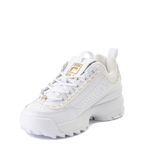 alternate view Fila Disruptor 2 Athletic Shoe - Big Kid - White / GoldALT2
